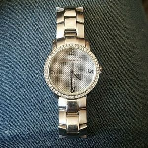 BCBGMAXAZRIA Diamond Stainless Steel Watch